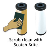 Scrub Clean Ceramic Filter